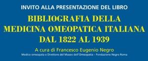 Presentazione del libro 'Bibliografia della Medicina Omeopatica italiana dal 1822 al 1939'