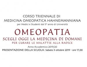Corso triennale di Medicina Omeopatica Hahnemanniana