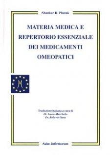 Materia medica e repertorio essenziale dei medicamenti omeopatici  Shankar Phatak   Salus Infirmorum