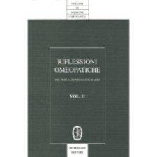 Riflessioni omeopatiche Vol. 2  Alfonso Masi Elizalde   De Ferrari Editore